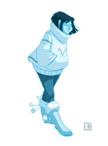 Blue Jumper Girl