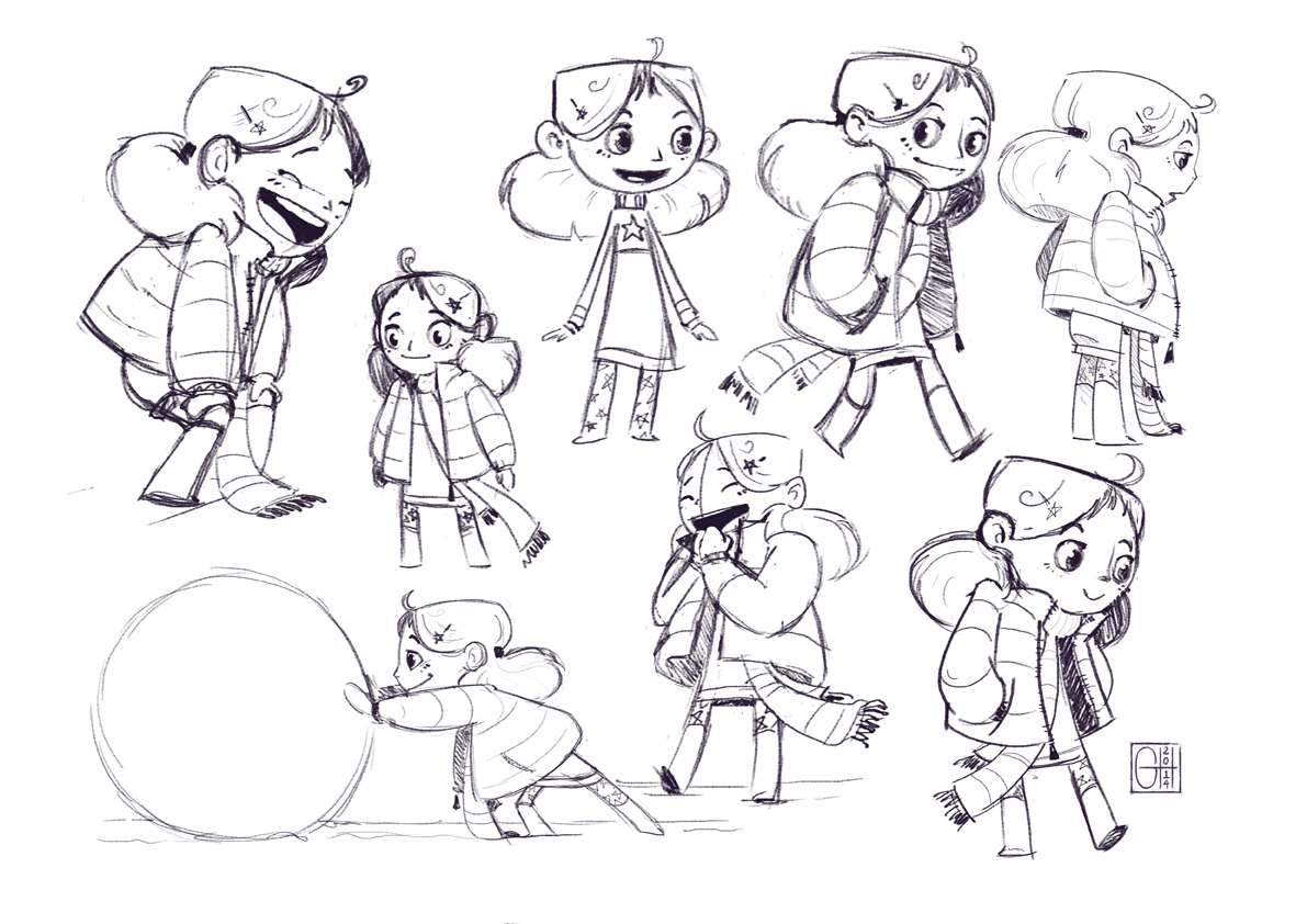Character Design Degree Uk : Little girl clean up sketches gracie doodles illustration