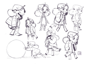Little Girl Clean Up Sketches on leave me alone